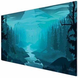 KINPLE Blueforest003 Tapis de souris pour gamer, bureau et maison 90 x 40 cm