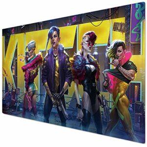 KINPLE Cyberpunk006 Tapis de souris pour gamer, bureau et maison 90 x 40 cm