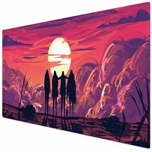 KINPLE Grand tapis de souris de jeu avec bord cousu (90 x 40 Friends011) – XXL – Pour gamer, bureau et maison