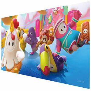 KINPLE Tapis de souris de jeu, grand tapis de souris étendu avec bords cousus (90 x 40 cm) XXL pour gamer, bureau et maison (guys007)