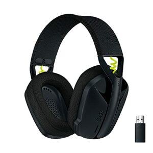 Logitech G435 LIGHTSPEED et Bluetooth Sans Fil Casque Gaming – Casque léger circum-auriculaire, micro intégré, batterie de 18h, compatible avec Dolby Atmos, PC, PS4, PS5, Mobile – Noir