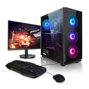 Megaport Super Méga Pack Blade – PC Gamer • Ecran LED 24″ • Intel Core i5-11600K • Nvidia GeForce RTX3060 12Go • 16Go DDR4 • 1To M.2 SSD • Win10 • WiFi Ordinateur de Bureau PC Gamer
