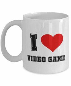 NA J'aime Le Jeu vidéo – Mug drôle de Jeu vidéo 11 oz céramique Blanche