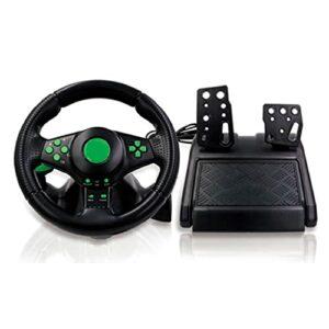 ZOUD Volant de jeu 4 en 1 avec pédales 180 ° de rotation pour XB 360/PS3/PS2/PC Gaming Volant